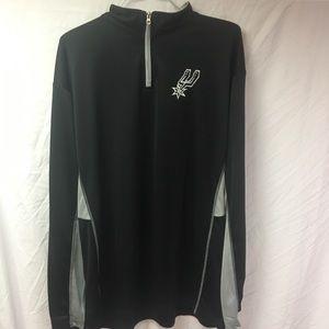 NWT San Antonio Spurs men's XLT 1/4 zip
